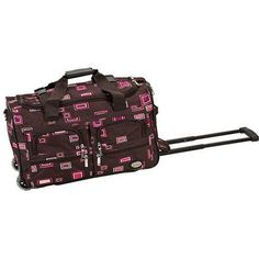 Rockland Luggage 22 inch Rolling Duffle Bag, Multiple Colors, Brown