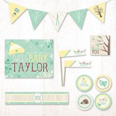 Winter Baby Shower Party Decor