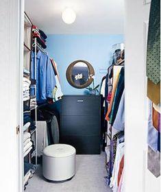 Organized master-bedroom closet