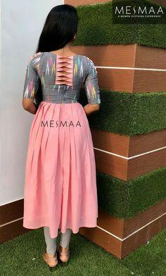 Kurti Back Neck Designs, Simple Kurta Designs, Kurta Neck Design, Neck Designs For Suits, Sleeves Designs For Dresses, Blouse Neck Designs, Churidhar Neck Designs, Latest Dress Design, Stylish Dress Designs