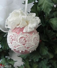 Handmade Christmas Ornament. Redesigned from vintage ornament