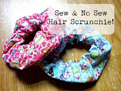 Learn how to make hair scrunchies! Both a sew and no-sew option is shown in this video :) Perfect for everyone!