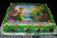 Wedding Cakes Pastries And Cookies Tinkerbell Edible Picture Cake
