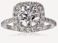 2.5 ct engagement ring. Click for Where To Buy info.