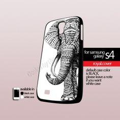 Elepant Black Aztec  - Print On Hard Case For Samsung Galaxy S4 i9500