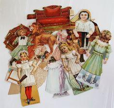 LOT antique victorian LION COFFEE PAPER DOLLS miscellaneous set pcs wear damage in Collectibles, Advertising, Merchandise & Memorabilia, Victorian Trade Cards, Coffee & Tea | eBay