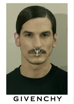 Givenchy nose ring re invented for men !!!