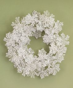 Look at this Glitter Snowflake Wreath on #zulily today!