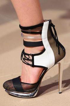 Prabal Gurung fish net shoes...