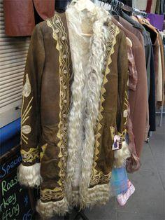 Finds of the fair January 2011 - The Vintage Village 70s Fashion, Vintage Fashion, Fashion Outfits, Sheepskin Coat, Retro Vintage, Vintage Stuff, Beachwear, Fur Coat, Irwin Goodman