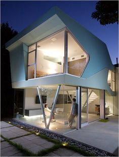 Alan-Voos Residence, Los Angeles. By Neil Denari, NMDA