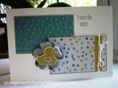 stampin up karte geburt babycard alles fürs baby something for baby spruch-reif new incolors match the sketch stiefmütterchen
