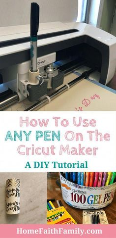 How To Make A Cricut Pen Adapter (The Easy Way) assortment on pens . - How To Make A Cricut Pen Adapter (The Easy Way) assortment on pens being used on the c -