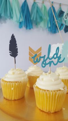 Tribal Wild One First Birthday Party Cupcake Topper by eventprint on Etsy