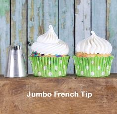 Jumbo French Frosting Tip - Use this frosting tip to create a swirl with lots of texture. You can also make a sweet little cloud of frosting for super quick cupcake decorating! | Bakers Party Shop