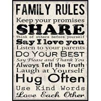 Deal Alert: Family Rules Mounted Print OQ70 via HalfOffDeals.com