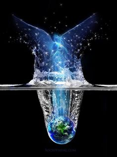 Water Has Memory.It can be charged with the energy of love,peace etc - Masaru Emoto Masaru Emoto, Visionary Art, Love And Light, Sacred Geometry, Mother Earth, Oeuvre D'art, Fantasy Art, Healing, Christian Art