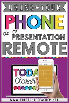 How to Use Your Phone as a Presentation Remote. Control your Google Slides™ presentation, PowerPoint presentation, Prezi presentation, etc. straight from your phone! Teaching Technology, Technology Integration, Educational Technology, Technology Tools, Instructional Technology, Instructional Strategies, Educational Websites, Google Classroom, School Classroom