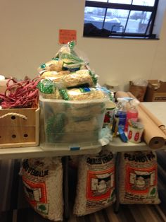 Basketing supplies-raffia, excelsior, packing peanuts, ribbon and builders heavy duty kraft paper.