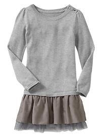Sweater tulle dress