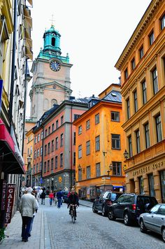 Stockholm ~ Sweden, I have walked down this very street. Good memories.