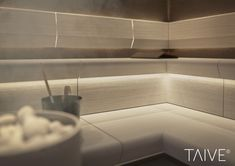 TAIVE sauna product line provides complete solutions for sauna interiors. It´s smooth, elegant design creates a harmonious atmosphere in your sauna as well as other interiors in your spa. In addition, thoughtfully designed Cariitti lighting solutions emphasize the surfaces and shapes of the materials. TAIVE interior is a timeless, long-lasting design solution that will create unforgettable sauna experiences for you and your guests. Lighting Solutions, Spa, Surface, Smooth, Interiors, Shapes, Elegant, Create, Design