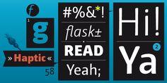 Haptic™ - Desktop font « MyFonts
