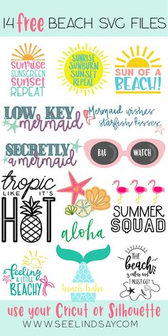 Get 14 FREE Beach SVG Files here that you can use on your Cricut or Silhouette m. - Cricut Projects and SVG Files Free Font Design, Layout Design, Design Design, Graphic Design, Planners, Free Svg, To Do Planner, Happy Planner, Cricut Craft Room