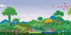 cuadros-decorativos-de-paisajes-primitivos-pintados-al-oleo