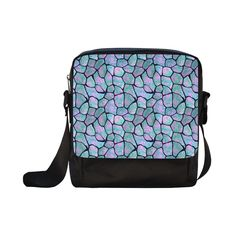 Turquoise and pink stones colorful mosaic stone texture Crossbody Nylon Bags (Model 1633)