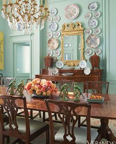 "23 Likes, 4 Comments - Lindsay Wasserman (@lmwdecor) on Instagram: ""From the late designer Beverly Field is this gorgeous dining room featured by @verandamag #interior…"""