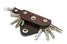 Extremely convenient keychain key holder from dark brown by TIZART