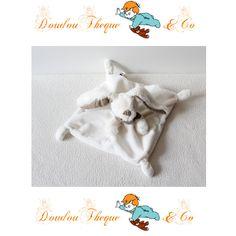simple doudou plat lapin tex baby bandana foulard taupe. Black Bedroom Furniture Sets. Home Design Ideas