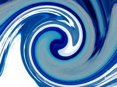 """Saatchi Art Artist Mandy Collins; Photography, """"Blue Wave"""" #art This was originally a photograph of a flower which I have manipulated to resemble a wave."""