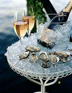 Oysters and Dom Perignon