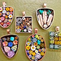 Stained Glass Garden - Classes and Workshops - Micro Mosaic Jewelry