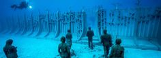 Lanzarote, Spain: british artist Jason Decaires Taylor has finally completed his monumental underwater project Museo Atlantico.
