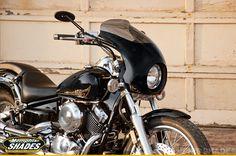 2013 Yamaha V-Star 650 with a Memphis Shades Bullet Fairing.