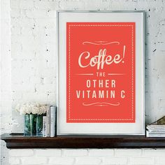 LOVE this, great kitchen print!! via Rock The Custard #Etsy shop #coffee