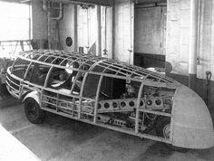 Dimaxion Car. El prototipo de B. M. Fuller retomado posteriormente por N. Foster.