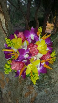 Shipwreck Beach in Kōloa, HI. Another beautiful bouquet created by Arlene at the Blue Orchid