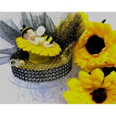 Bumble Bee Baby Shower Cake Topper Decoration