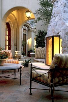 Lovely outdoor living area