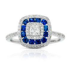 Rosendorff Jewellers ~ Sapphire and Round Brilliant Diamond Ring