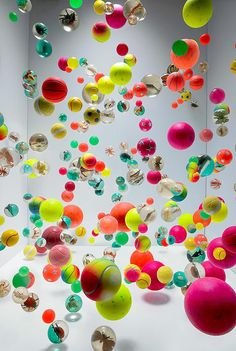 Martin Klimas room of bouncing balls - reminds me of my childhood collection.