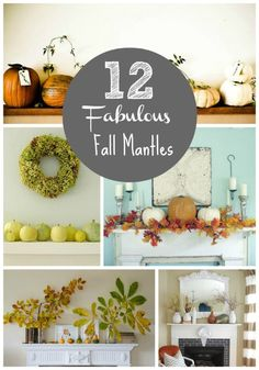 After a long hot summer I can't wait for the crisp autumn air! To prepare myself for Fall's grand entrance I've been searching for some fall decoration inspiration. Beth from Home Stories A2Z has wonderful mantel parties. Her Fall Mantel Party last year had over 100 Fall and Halloween mantels linked up - be sure…