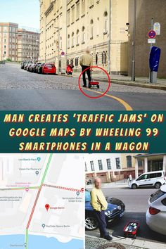 #Man #Creates #Traffic #Jams #Google #Maps #Wheeling #Smartphones #Wagon