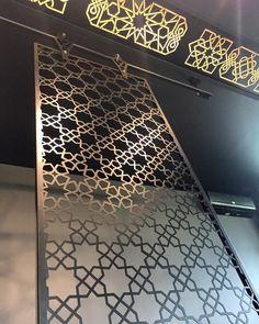 Ethnic Seljuk Star patterned movable laser cut privacy screen- Selçuklu Yıldızı Hareketli Lazer KesimMetal Bölücü Paneller (Seperatörler)