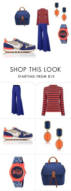 """orange&blue"" by ilona-giladi ❤ liked on Polyvore featuring Warehouse, NIKE, 1st & Gorgeous by Carolee, Superdry and Deluxity"