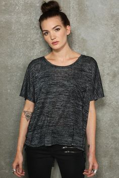 Sparkle & Fade Shirtail Nepped Tee